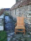 Shetland chair at the croft house