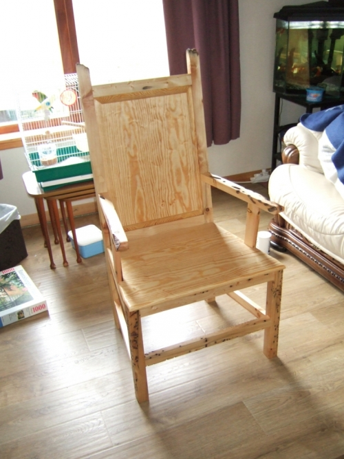 driftwood Shetland chair