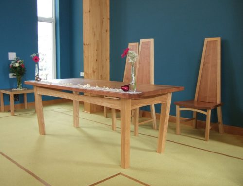Communion table and chairs