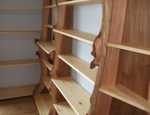 Natural Edge Bookshelves