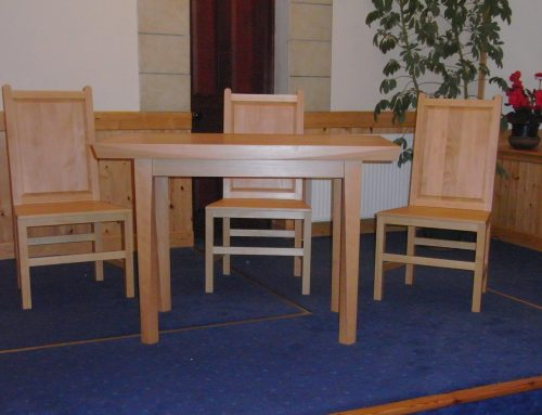 Dunrossness Baptist communion table and chairs